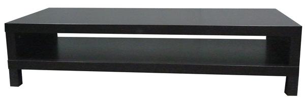 Table basse 149 cm x 55 cm x h 35 cm 2 plateaux en bois for Table basse en bois noir