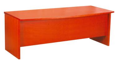 Bureau plateau droit et pi tement en bois de cerisier for Bureau 90 cm de long