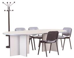 Table de r union ovale grise for Table 430 52