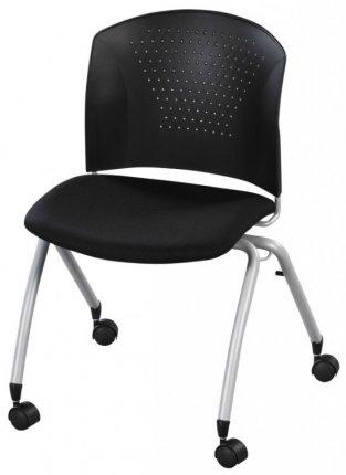 chaise plastique noire assise tissu. Black Bedroom Furniture Sets. Home Design Ideas