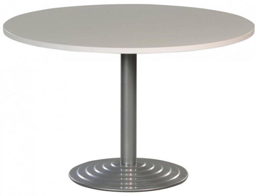 Table Ronde Diametre 120 Cm Plateau Colori Blanc Pietement Tubulaire