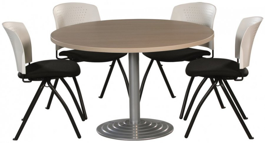 Table Ronde Diam Tre 120 Cm Plateau Colori H Tre Pi Tement Central Colori Aluminium