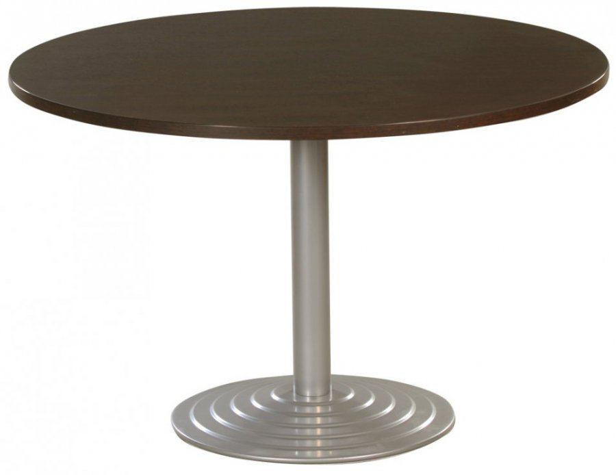 Table Ronde Diam Tre 120 Cm Plateau Colori Weng Pi Tement Tubulaire Colori Aluminium